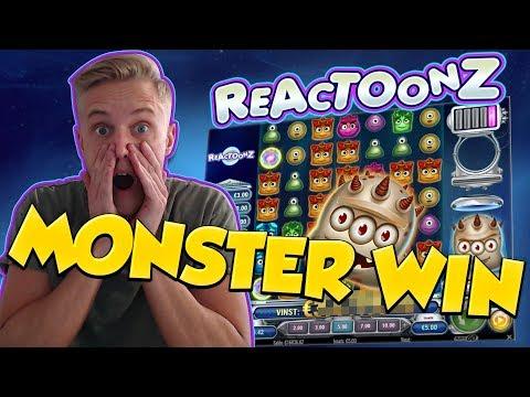 BIG WIN!!! Reactoonz Huge Win - Online Casino - Casino Games (muted mic)