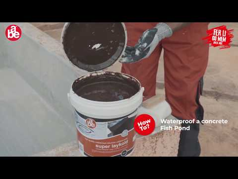 HOW TO : Waterproof A Concrete Fish Pond With Super Laykold