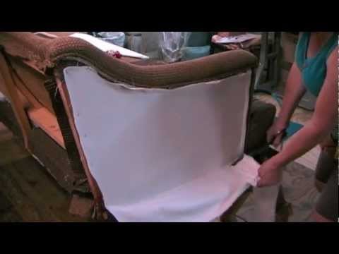 Upholstery How To Upholster The Outside Arm On A Chair Or