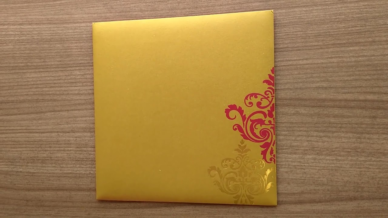 Exquisite Indian Wedding Card with Motifs & Multicolor Inserts - YouTube