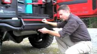 aev jk rear bumper tire carrier install pt 1