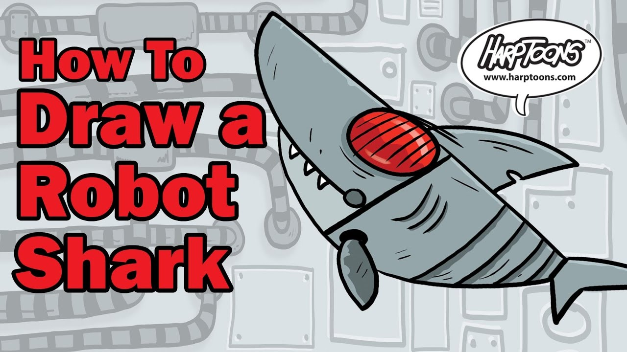 how to draw a shark youtube