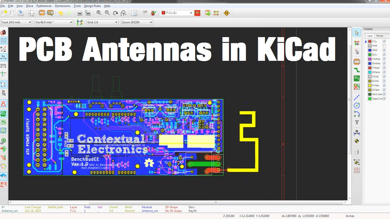 Making A PCB Antenna in KiCad - YouTube