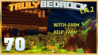 Truly Bedrock E70 1.14.2, Witch Farm / Kelp Farm | Minecraft Bedrock, MCPE, MCBE
