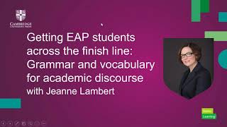 Getting EAP students across the finish line with Jeanne Lambert
