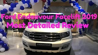 Ford Endeavour Facelift 2019 Review | Hardik Car show