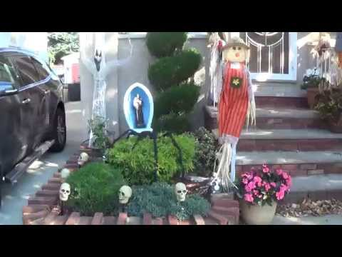Видео: Хэллоуин в США. Украшенные улицы