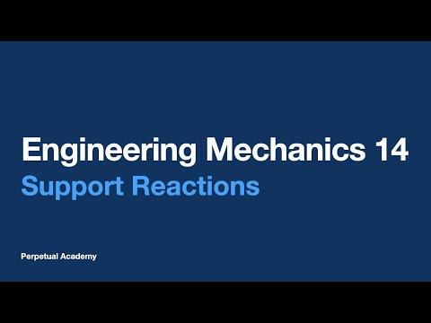 Engineering Mechanics Part 6.1 - Support Reactions