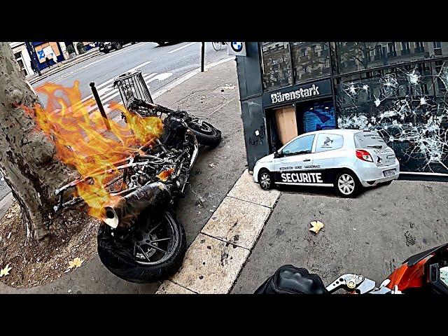 MOTO Brûlée, Magasin Défoncé 😡