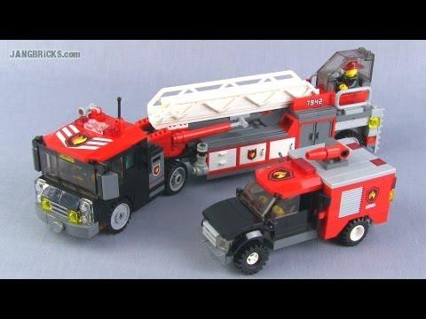 Lego Custom Tiller Ladder Amp Brush Trucks Fire Mocs Youtube