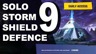 Solo Storm shield defence 9, Fortnite Single player blind playthrough