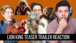 Lion King Official Teaser Trailer Reaction!!!!