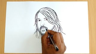 How to Draw Dave Grohl