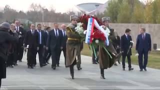 Возложение С.Лавровым венка к Мемориалу жертв Геноцида армян