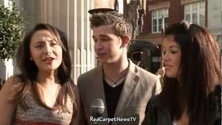 Klariza Clayton Jade Ramsey & Burkely Duffield Interview - House of Anubis Season 2 UK Premiere