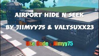 ¡Escondite y búsqueda en el aeropuerto! (Un mapa creativo de Fortnite) (Código en Desc)