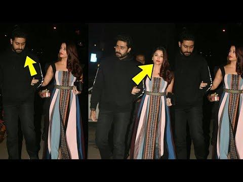 Abhishek bachchan in bad mood with wife Aishwarya Rai Bachchan in public |OMG