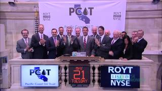 Pacific Coast Oil Trust, a Perpetual Royalty Trust, Marks One Year Anniversary of Trading with NYSE