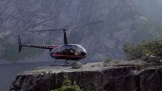 Helicopter Landing: Edge of a Cliff - day in the life of Bradl…