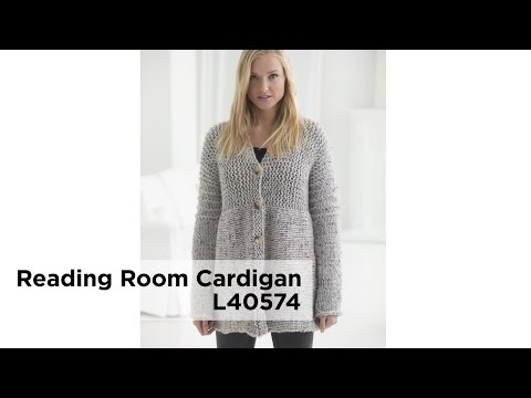 The Reading Room Cardigan - Great Pattern for Your First Sweater!