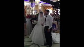 Красивая встреча жениха и невесты в Дагестане