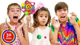 Nastya y Artem Mia tuvieron una nueva competencia divertida para niños