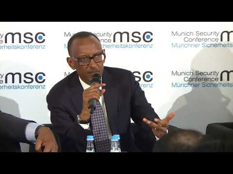 President Kagame takes part in a panel discussion on Securing the Sahel | Munich,17 February 2018