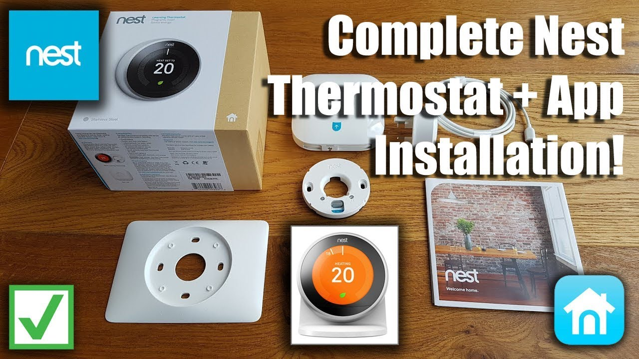 nest thermostat 3rd generation  complete setup including