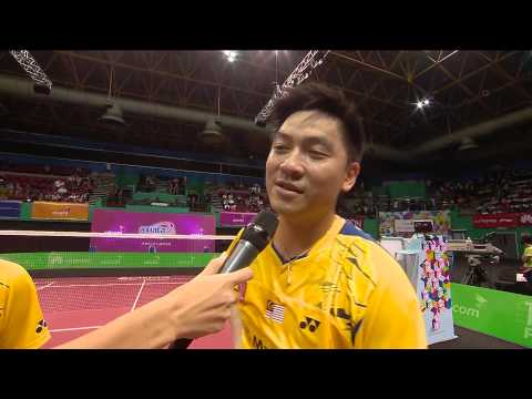 071214 AXIATA CUP 2014 POST MATCH TAN WEE KIONG & TAN BOON HEONG