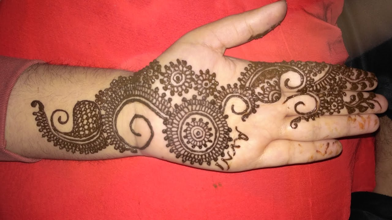 Mehndi design 2017 images - Elegant Latest Henna Arabic Mehndi Beautiful Mehndi Design For Front Hands 2017