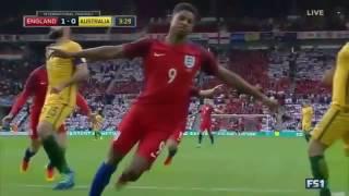 Timnas Inggris Vs Australia 2-1, Rashford dan Rooney Cetak Gol