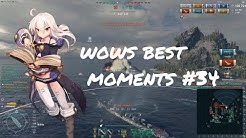 World of Warships Best Moments #34 16km Shima Torpedo Rank