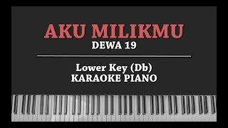 Aku Milikmu LOWER KEY KARAOKE PIANO COVER Dewa 19