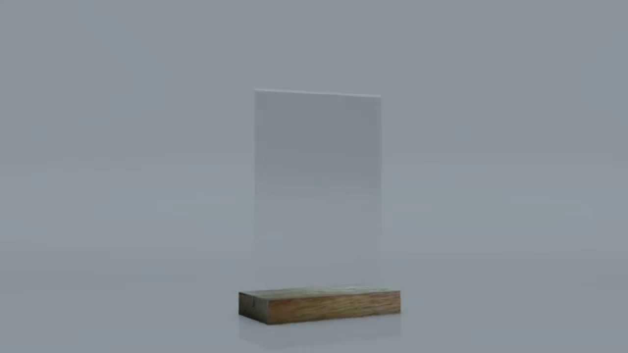 Chevalet Plexi sur socle bois - YouTube