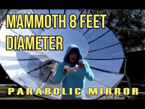 Giant Parabolic Mirror Solar Powered Steam Production Death Ray