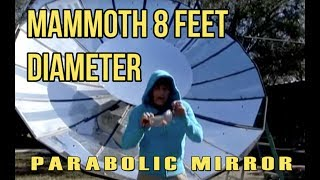 Giant Parabolic Mirror Solar Powered Steam Production Death Ray