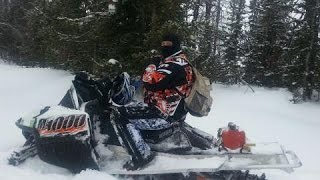 Mountain Snowmobiling Wyoming Back Country