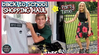 BACK TO SCHOOL SHOPPING HAUL (HILARIOUS!) & HER FIRST HIGH SCHOOL PARTY!