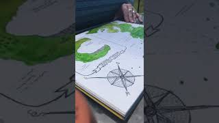 Speed Painting the Map for GIVE THE DARK MY LOVE