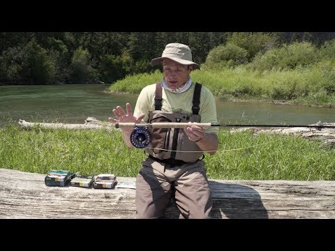 how to set up a fly rod for trout