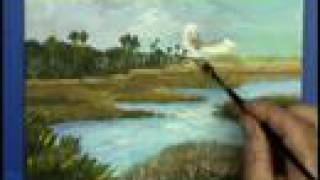 Greenfield Creek Marsh lands 8x10 Gary Garrett Painting demo plein air time lapse