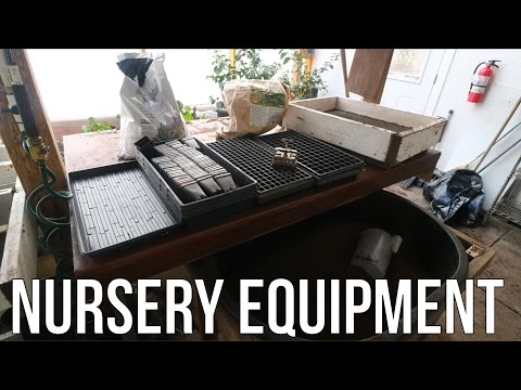 Nursery Equipment For The Greenhouse