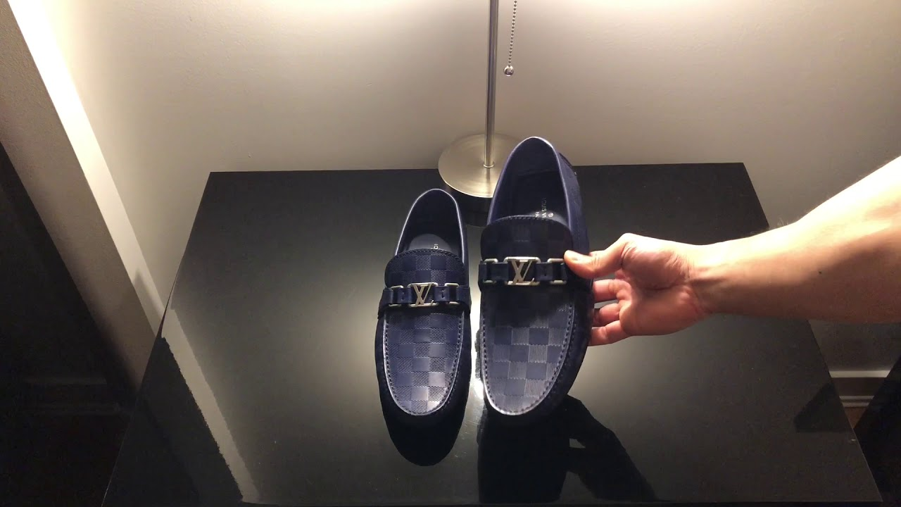 eb86249086b9 Louis Vuitton Hockenheim Blue Loafers - YouTube