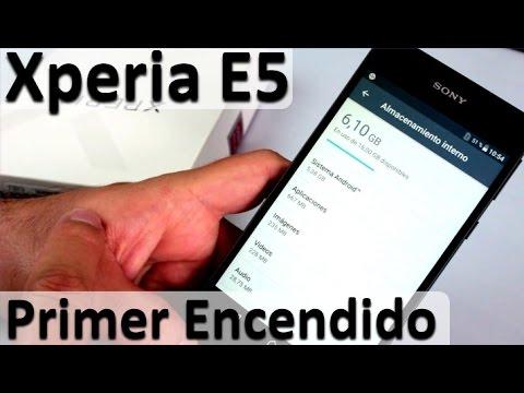 Sony Xperia E5 Español Review Primer Encendido - Nuevos Celulares Baratos