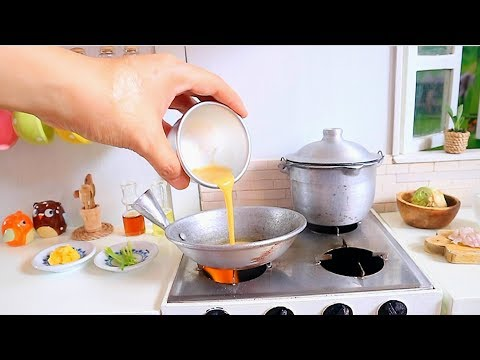 S2 EP23: ASMR COOKING EGG FRIED RICE FOR BREAKFAST [REAL FOOD COOKING MINI KITCHEN  SET]