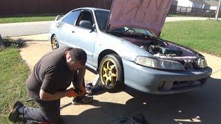 Honda/Acura DIY coilover installation and new wheels (maxpeedingrods)
