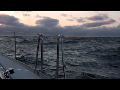 North Sea,  Borkum, sailing into the sunset