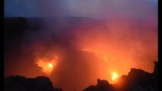Erta Ale Volcano   Ethiopia   time lapse video day into night