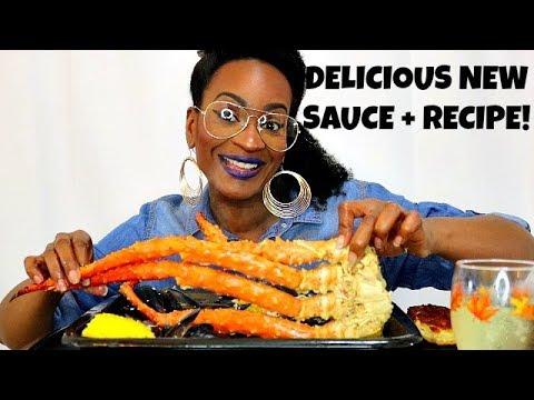 KING CRAB SEAFOOD BOIL! NEW SAUCE + RECIPE!! (COOKING/MUKBANG)