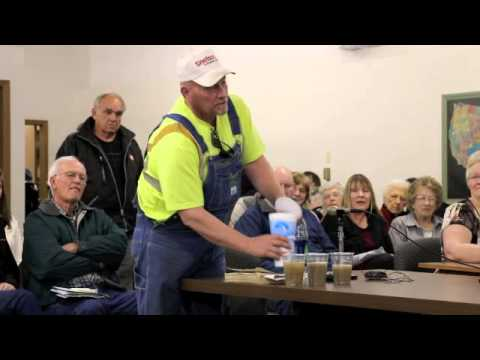 Hearing on Fracking Wastewater Well in Sioux County, NE (clip)